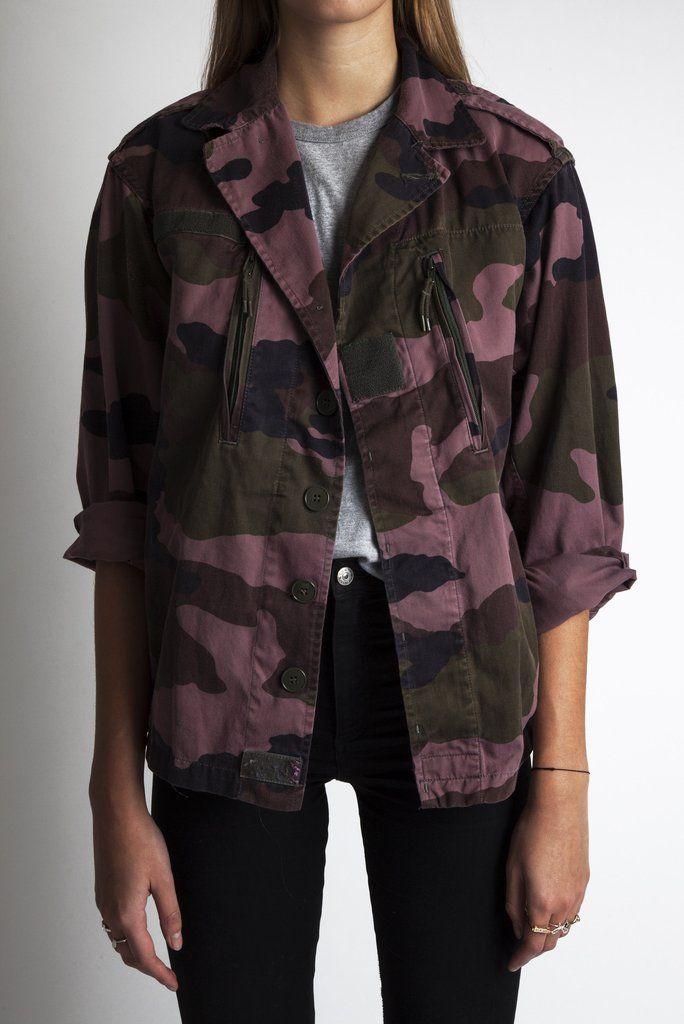 Pink Camo Jacket - Woman