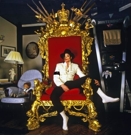 Michael Jackson photographed by Harry Benson inside the Neverland Ranch in 1997.