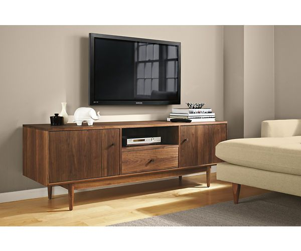 Room & Board - Grove 32h 72w Open-Shelf/Two-Door Media Cabinet