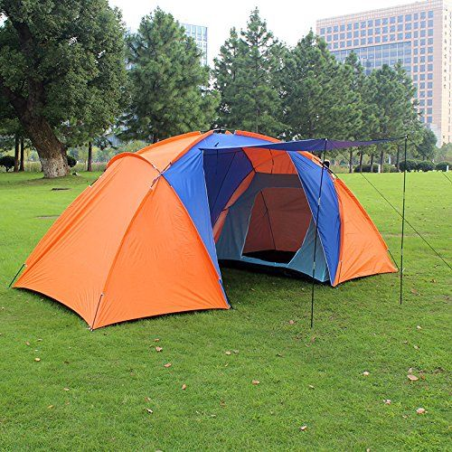 Eshion Outdoor 4 Person Double Layer Big Family Travel Hunting Camping Tent with 2 bedroom *** Check this awesome image  : Hiking tents