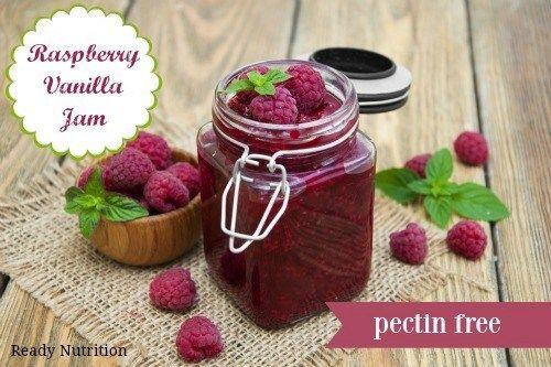 Raspberry Vanilla Jam (Pectin-Free)