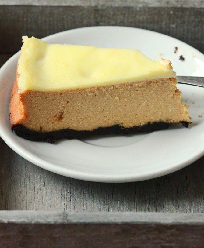 Sernik z masą krówkową Caramel cheesecake via bayaderka.blogspot