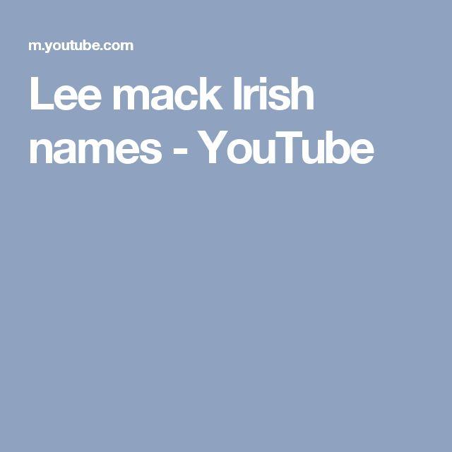 Lee mack Irish names - YouTube