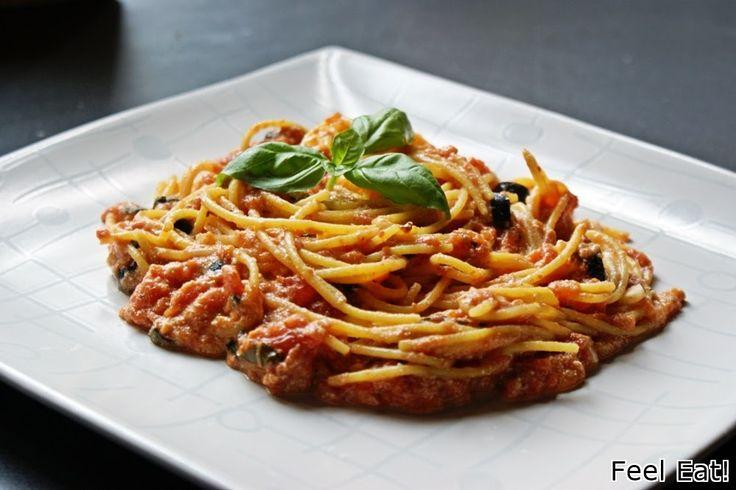 Feel Eat!: Spaghetti z ricottą i pomidorami