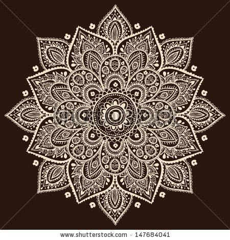 Indian Traditional Pattern Of Black And White - Flower Mandala Stock Vector 161966852 : Shutterstock