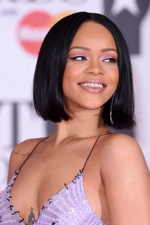 Rihanna Rocking A Black Bob At The Brits, 24th Feb 2016