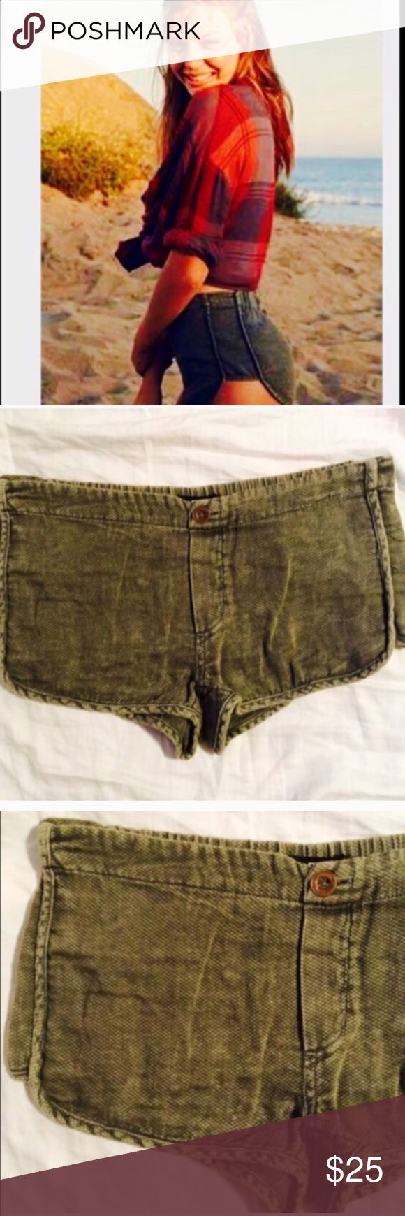 ❗️1 LEFT Urban Outfitters Olive Dolphin Shorts NWT ❗️1 LEFT Urban outfitters olive BDG dolphin shorts. NWT size small. Discounts on bundles! Holiday Sale! I also consider all reasonable offers so feel free to make an offer! Urban Outfitters Shorts