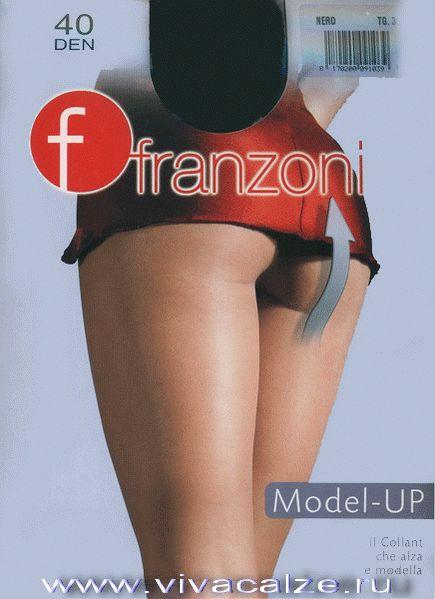 MODEL - UP 40 Корректирующие матовые колготки с плотными штанишками, которые утягивают живот и бедра и приподнимают ягодицы, и массажным эффектом по ноге, хлопковая ластовица.