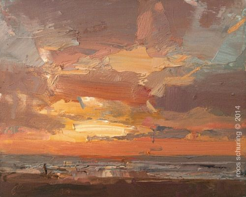 SA13-2014-Seascape-Schuring Catching a Glimpse of Evening Sun
