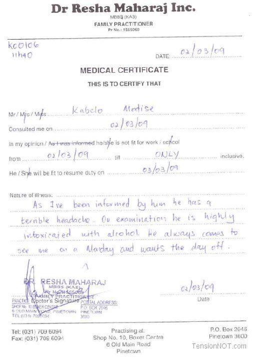washington hospital center doctors note