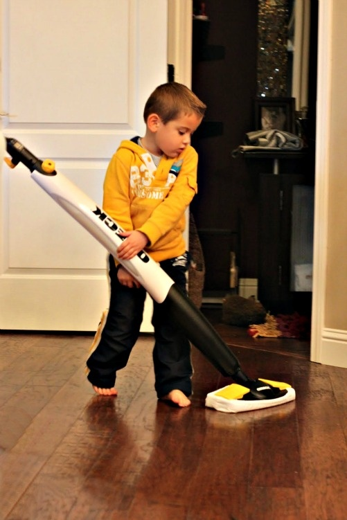When kids can use it, you know you've gotten the right steam mop. :)