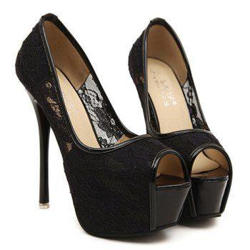 Peep Toe - Shop Peep Toe Online at DressLily.com