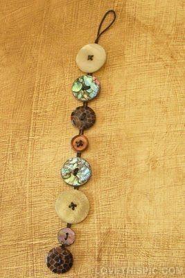 Button Bracelet band bracelet diy handmade buttons