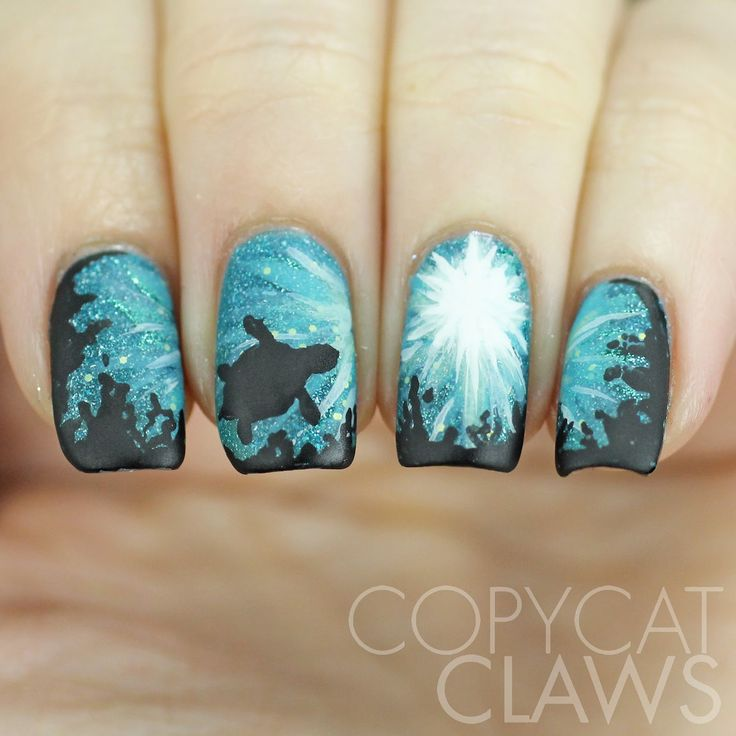 Copycat Claws Blue Color Block Nail Art: Best 25+ Firework Nails Ideas On Pinterest