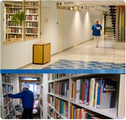 Keskussairaalan kirjasto / Centralsjukhusets bibliotek Photo by Joni Virtanen