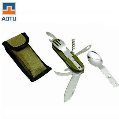 Hoy con el 58% de descuento. Llévalo por solo $20,100.Aotu AT6364 8 funciones en 1 cuchillo plegable Set de cubiertos.                                                                                                                                                                                 Más