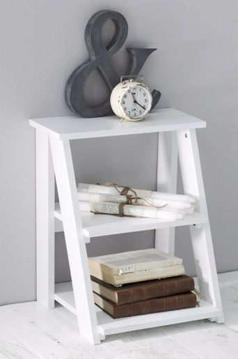 White & Fresh...great night stand/could put a basket on second shelf, lamp on top...c