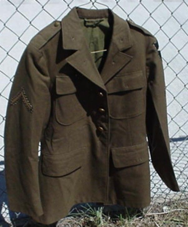 U S Military Surplus Ww Ii Army Field Jacket Pfc Of 2nd Division Infantry Wool