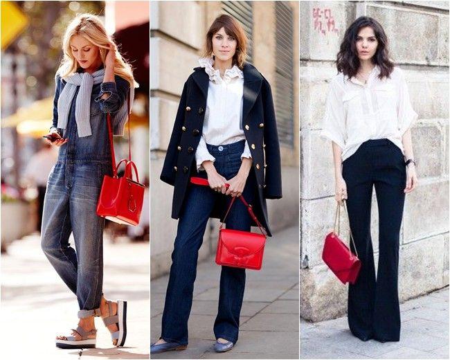 Sabe quando o look está bem sem graça, ou muito básico, simples e precisa de algo a mais? Pegue uma bolsa vermelha. Toda vez que vejo alguma produção de jeans e camiseta, ou um total black e uma bolsa vermelhona, fico encantada. Principalmente quando é de alça comprida. Quero muito uma e estou procurando opções …