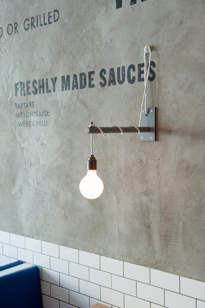 Pendant Light Wrapped Around a Wall Bracket at Kerbisher & Malt