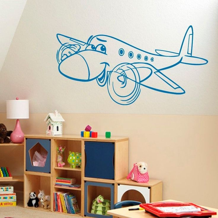 18 best images about airplane on pinterest silhouette for Aeroplane wall mural