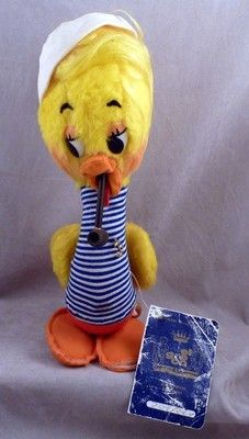 VINTAGE EL GRECO DOLL HERBET SAILOR DUCK SMOKING A PIPE WITH THE TAGS 12 IN TALL (03/11/2013)
