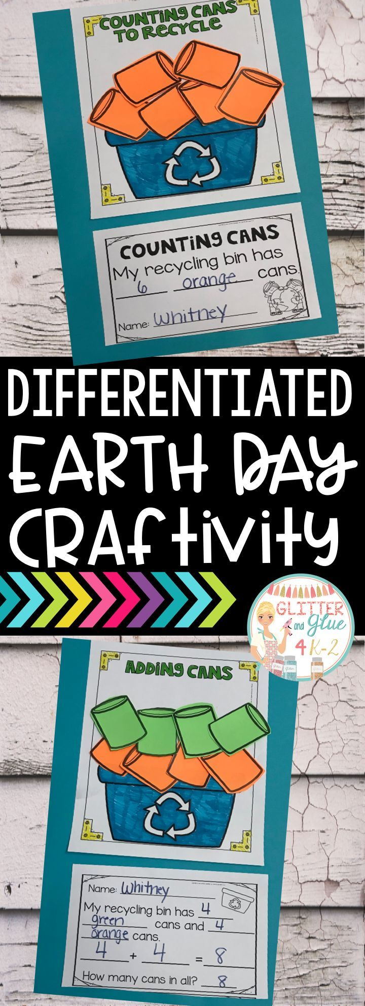 Use this fun Earth Day craftivity to reinforce counting, addition, subtraction, and color words! I've included four different versions so you can use the option that fits your classroom's needs best or you can differentiate. Keywords: Earth Day theme, kindergarten, first grade, craft, math craft, math craft, sped, special education, intervention specialist, teaching, teacher, math activity, end of the year activity