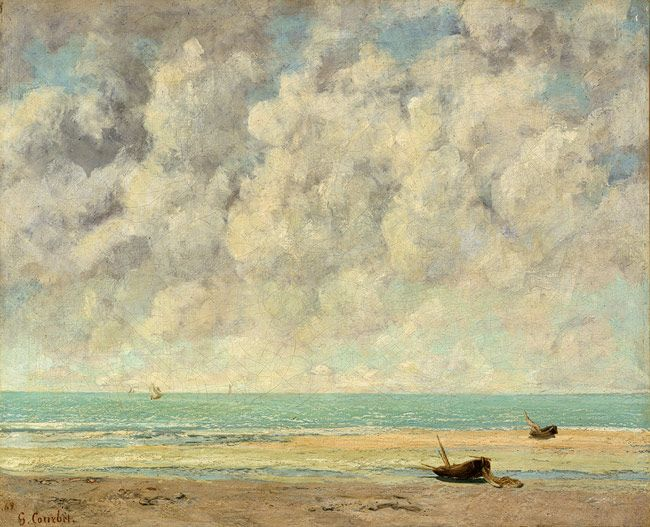 The Calm Sea, 1869 Gustave Courbet