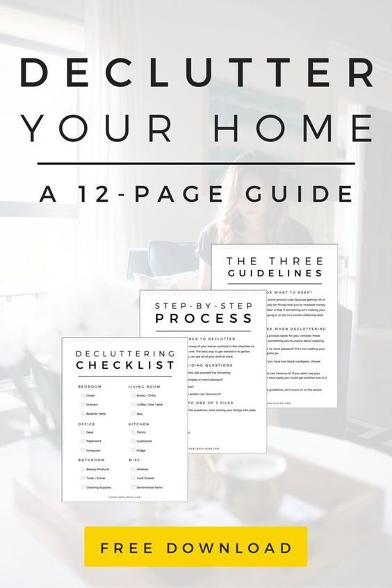 40 practical tips to declutter your home free workbook for Minimalisme rangement