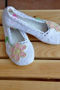 Children's Boutique ShoesWhite Crochet Flats