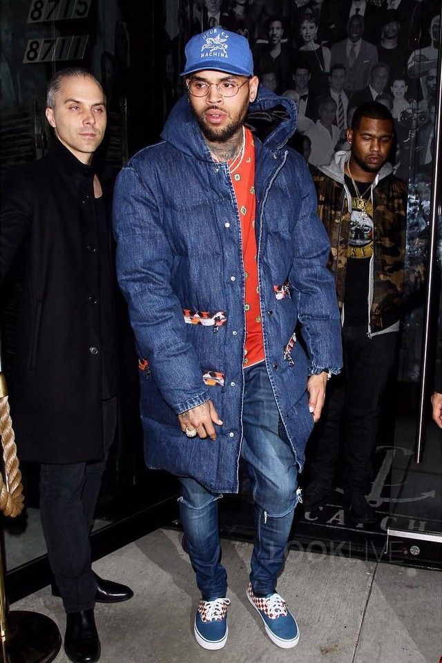 Chris Brown wearing H
