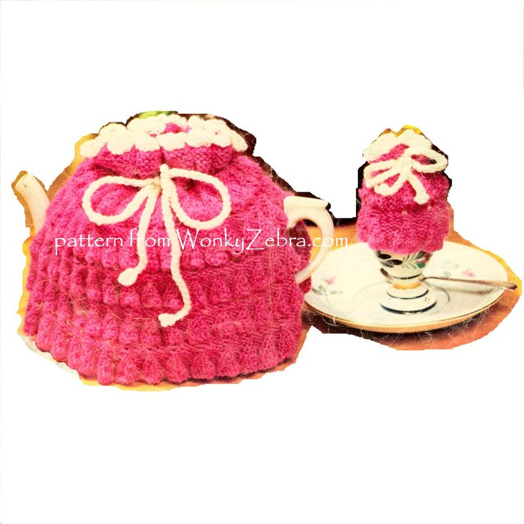 """WZ898 pretty vintage tea cosy and egg cosy pattern. From a magazine page  for """"fundraising"""""""
