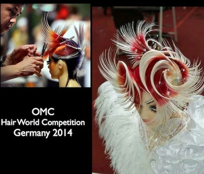 2014 Most Popular Live Competition Photo on our social media pages! #hotonbeauty #fantasyhair #OMC #HairWorld #thewaywewere