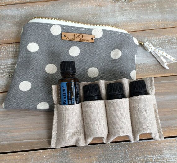 Essential Oil Bag With Insert oil storage by Cowgrlcreations