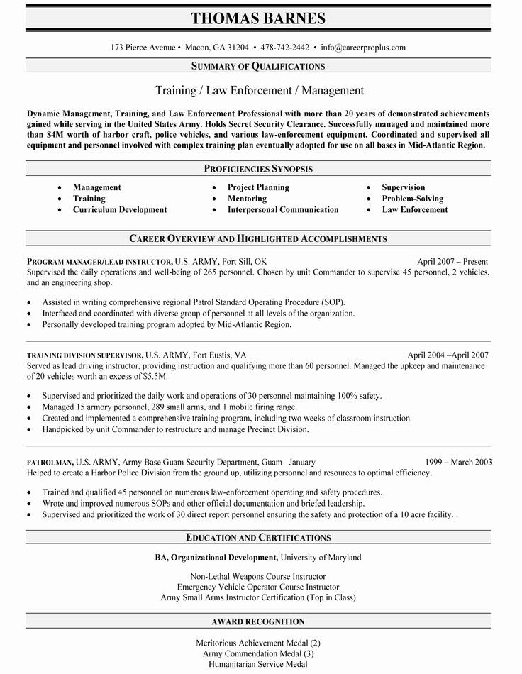 Military Police Job Description Resume Inspirational Best