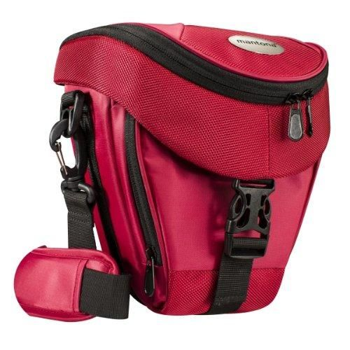Oferta: 25.90€ Dto: -23%. Comprar Ofertas de Mantona Premium - Funda para cámara reflex (correa para hombro, cierre de cremallera y clip), color rojo barato. ¡Mira las ofertas!