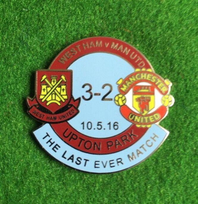 West Ham United V Manchester United Badge Last Match at The Boleyn Ground