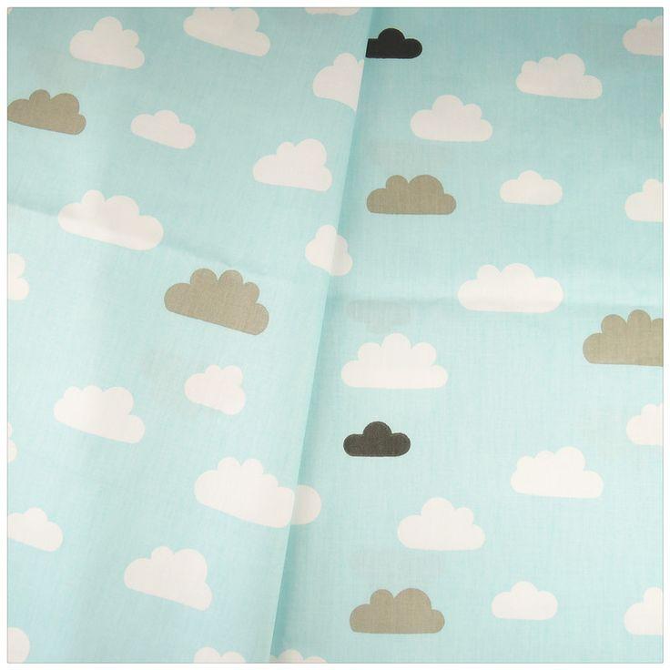 Синие Облака дизайн 100% хлопчатобумажной ткани домашнего декора дети постельные принадлежности DIY швейных одежды швейная tecido пункт лоскутное ткани