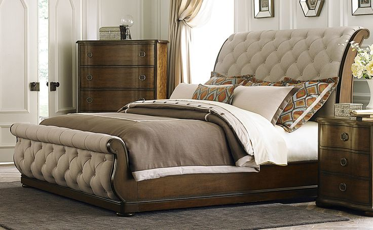 Beautiful Sleigh Bed King With Nightstand And Dresser