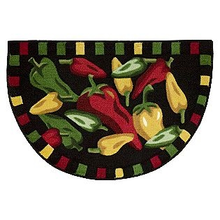 Elegant Slice Chili Peppers Kitchen Rug  Whole Home