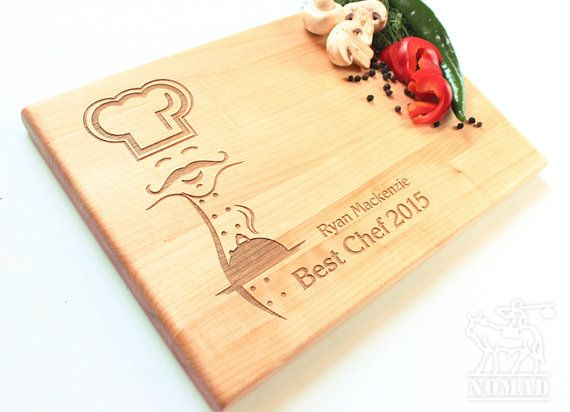 Personalized Chef Cutting Board Best Chef Custom by NomadGift