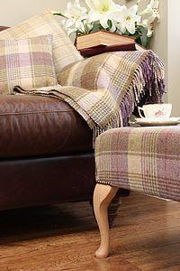 Tartan And Wool Throws - living room