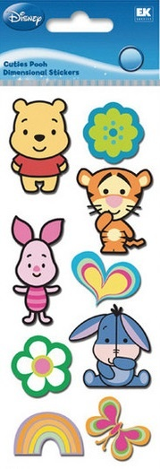 Cuties Pooh Disney 3D Scrapbooking Stickers. They are SO cute!