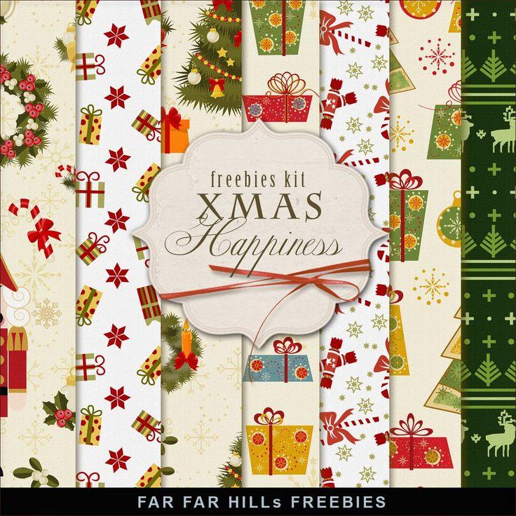 Scrapbooking TammyTags -- TT - Designer - Far Far Hill, TT - Item - Paper, TT - Theme - Christmas
