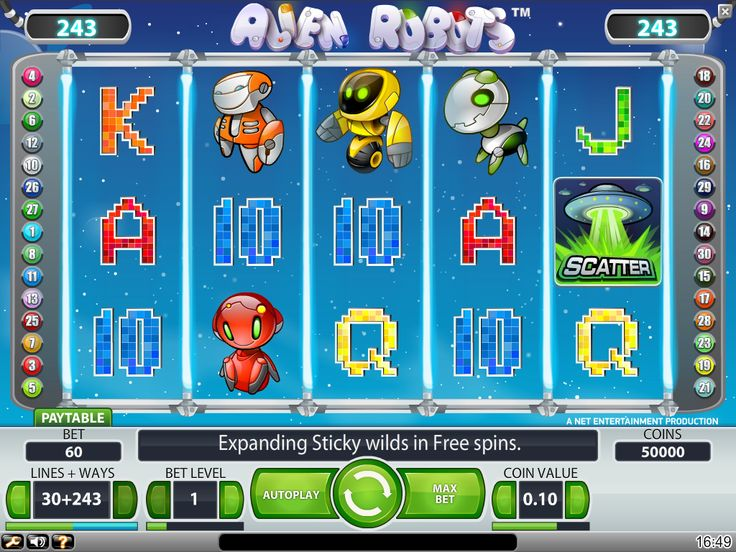 Alien Robots Slot Game Review
