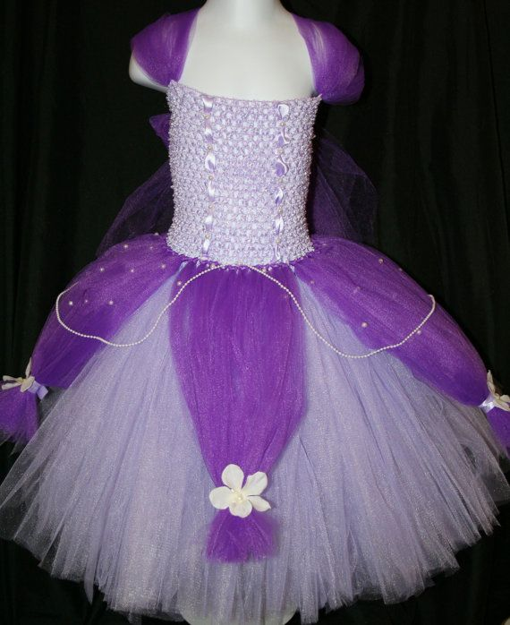 Listing is for a Princess Sofia The First Tutu Dress Princess Sofia the First Inspired Tutu Dress is made with lilac and purple tulle on