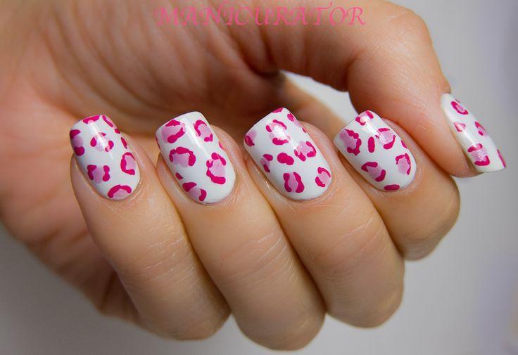 Beauty Pink Leopard Nail Design Designs Lepoard Motif Nail Designs