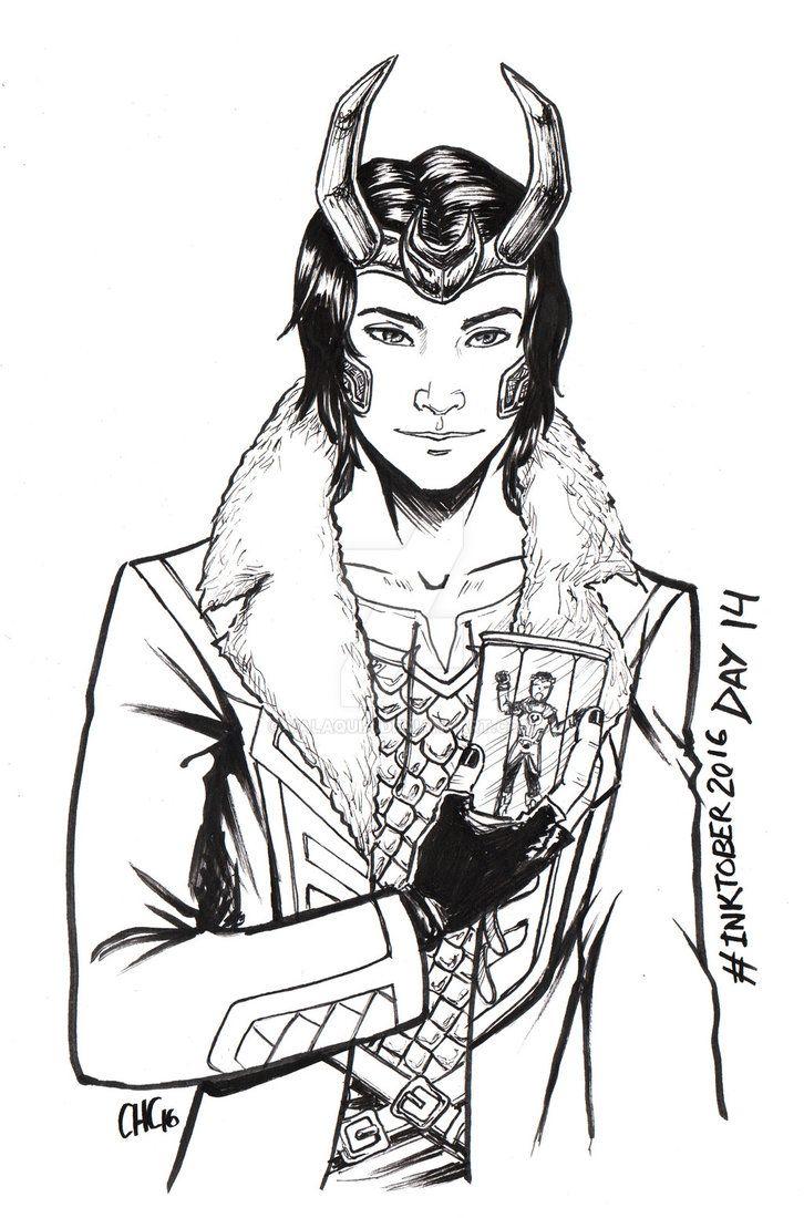 Inktober2016 - Day 14 - L is Loki Laufeyson by Valaquia.deviantart.com on @DeviantArt