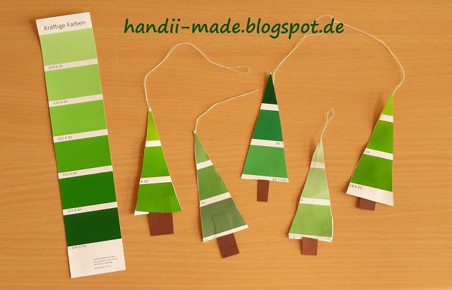 handii made: Tannenbaum aus Farbstreifen