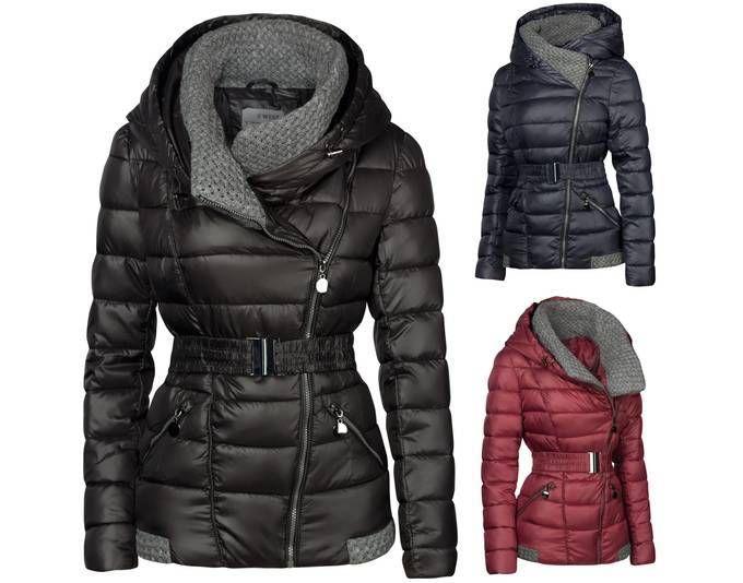 Damen Winter Steppjacke Übergangsjacke Jacke Gestrickter Kragen Kurz Mantel ,Dunkelblau, XL Jetzt bestellen unter: https://mode.ladendirekt.de/damen/bekleidung/jacken/daunenjacken-und-steppjacken/?uid=22397c63-2163-54a4-ba2e-810bd4da19d0&utm_source=pinterest&utm_medium=pin&utm_campaign=boards #steppjacken #daunenjacken #bekleidung #jacken